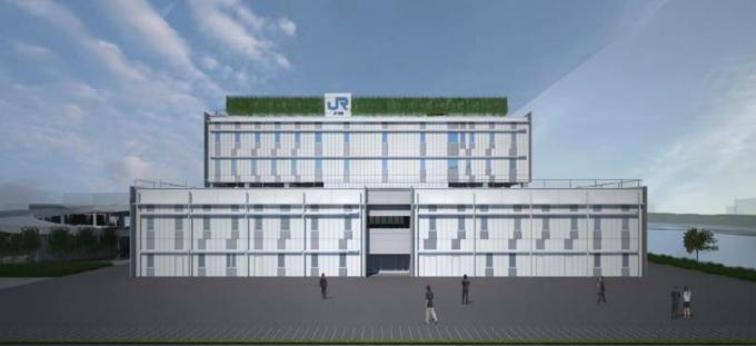 東京貨物ターミナル駅、新駅事務所が11月末竣工 高度利用プロジェクト ...