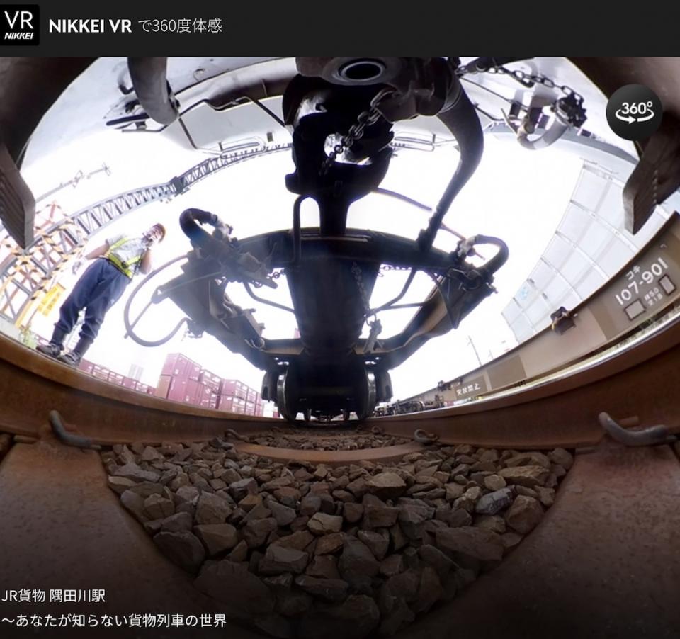 ニュース画像 1枚目:貨物駅構内で様々な角度から撮影したVR映像