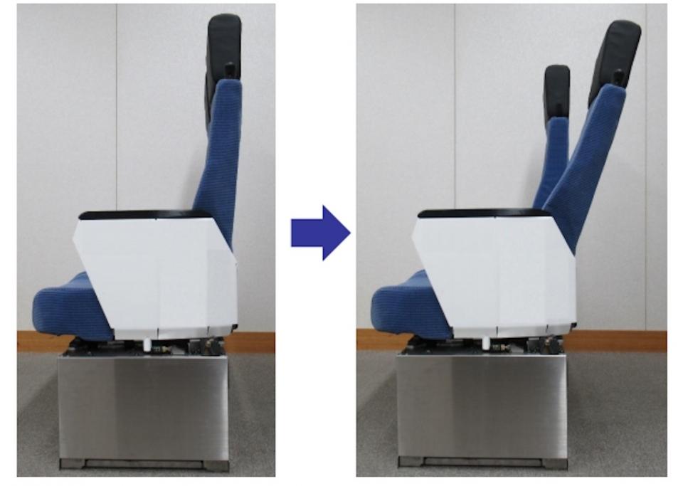 ニュース画像 1枚目:日本初のリクライニング付きL/C座席