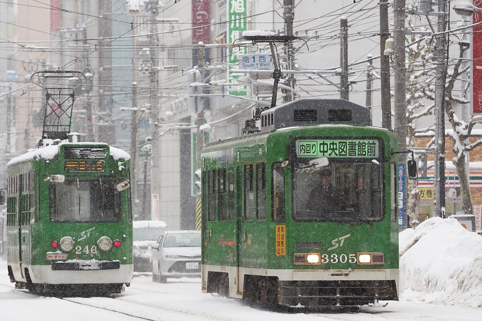 ニュース画像 2枚目:札幌市電3300形(わんべあさん撮影)