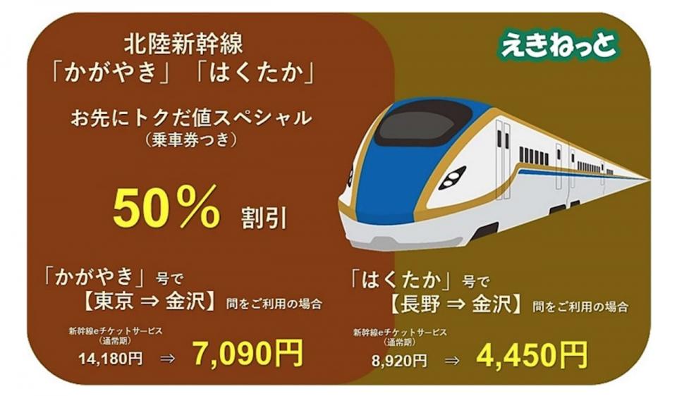 ニュース画像 1枚目:「新幹線eチケットサービス」限定商品の「お先にトクだ値スペシャル」