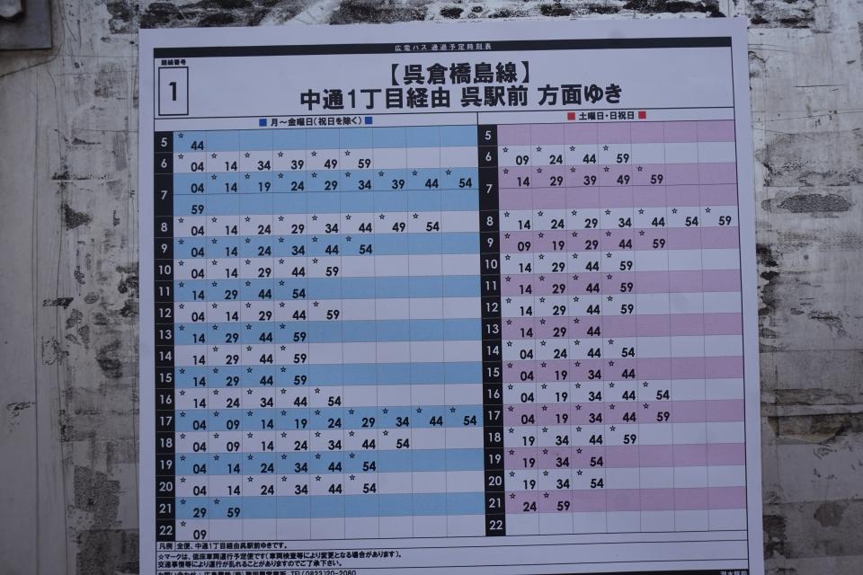 時刻 表 呉線 時刻表でたどる呉線の百年/昭和前期篇(戦争末期の呉線):三十糎艦船連合呉支部