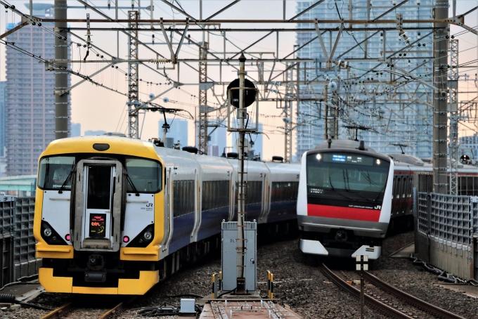 JR東日本E257系電車 わかしお クハE257-512 新木場駅 (JR) 鉄道フォト ...