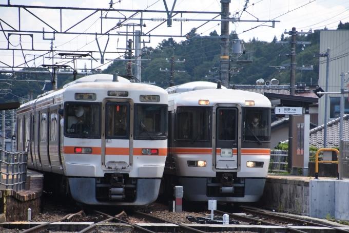 JR東海373系電車 クハ372-6 沢渡駅 鉄道フォト・写真 by おなだいさん ...
