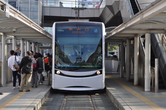豊橋鉄道T1000形電車 T1001s 駅...