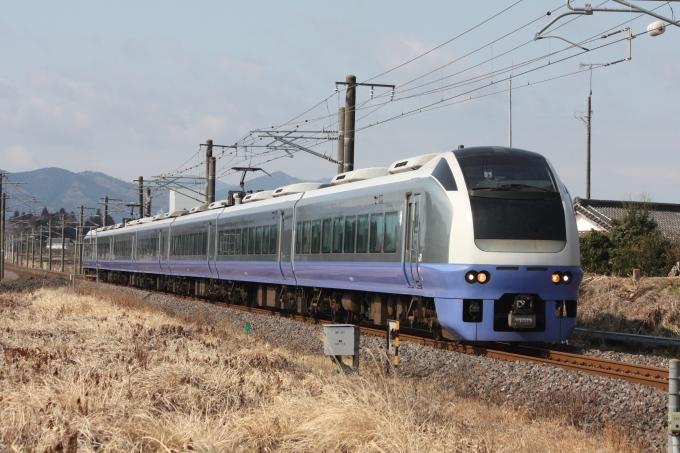 JR東日本E653系電車 フレッシュひたち クハE653-8 友部駅 鉄道フォト ...