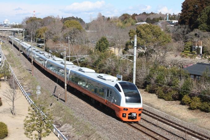 JR東日本E653系電車 フレッシュひたち クハE653-104 偕楽園駅 鉄道 ...