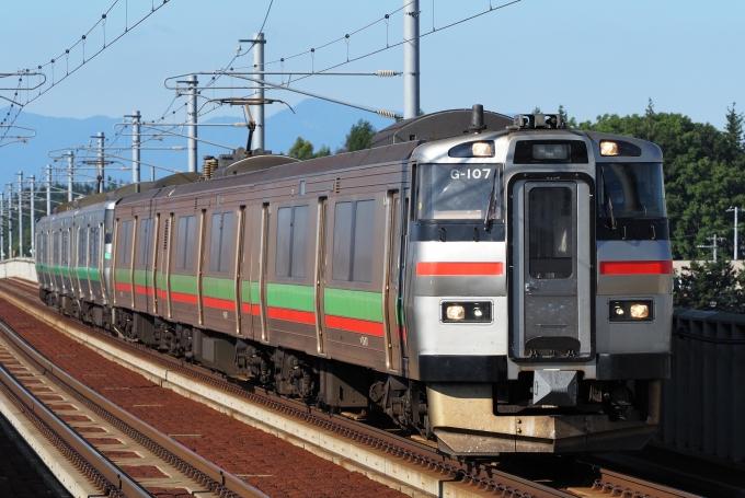 JR北海道731系電車 クハ731-107 野幌駅 鉄道フォト・写真 by わんべ ...